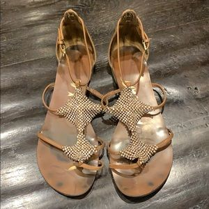 Rhinestone detailed sandals